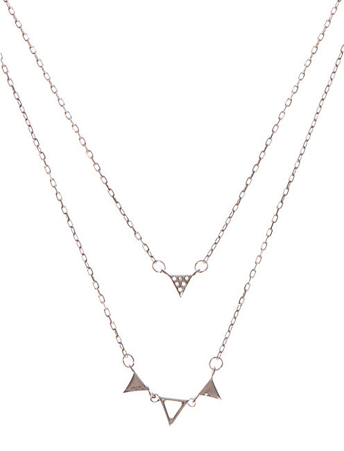 LAYERED TRIANGLE NECKLACE,