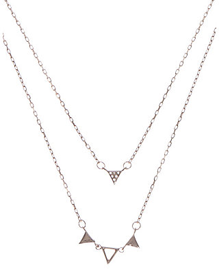 LUCKY LAYERED TRIANGLE NECKLACE