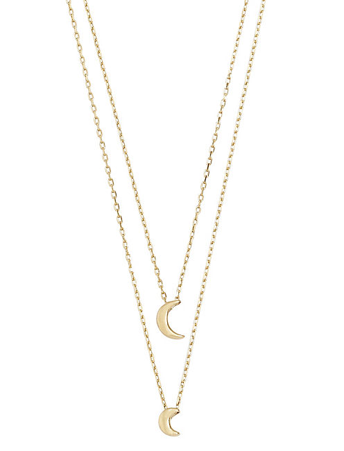 MOON LAYERED NECKLACE,