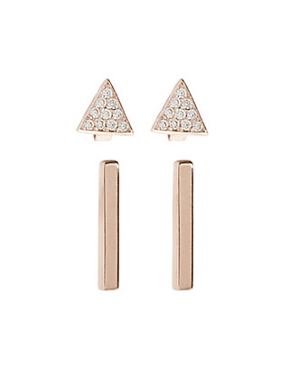 LUCKY DELICATE BAR STUD SET