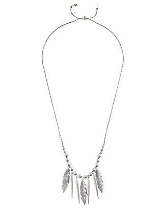 LUCKY FEATHER FRINGE NECKLACE