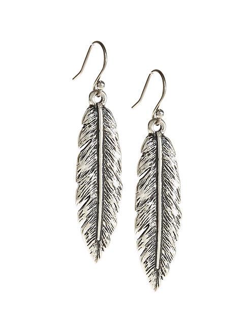 Silver Feather Earrings