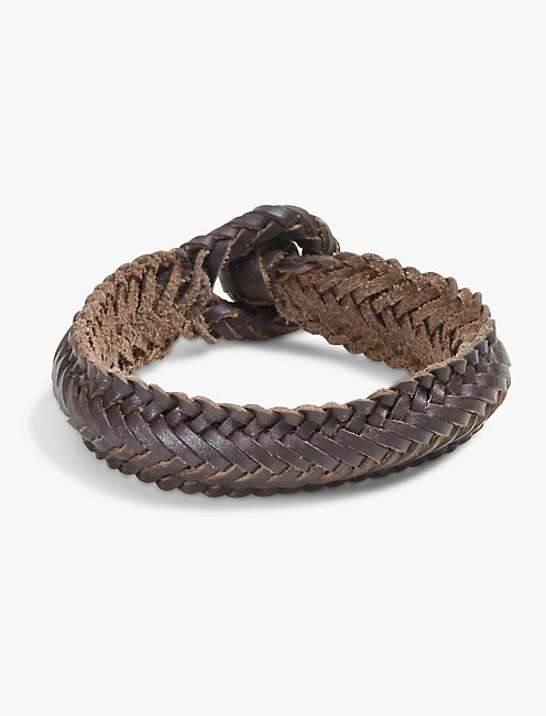WOVEN LEATHER BRACELET,