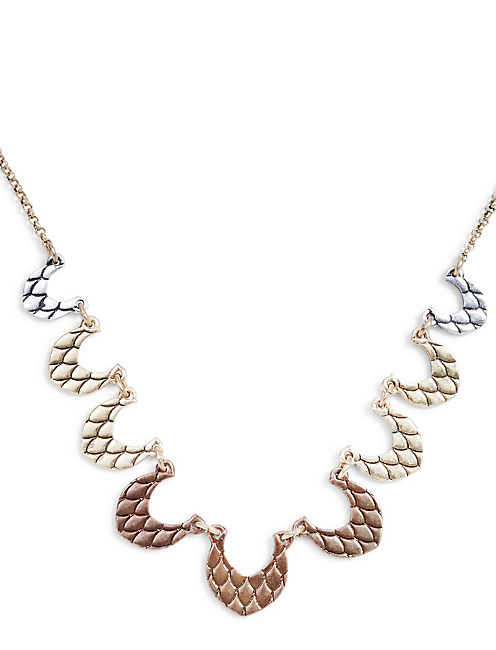 TRI TONE COLLAR NECKLACE,