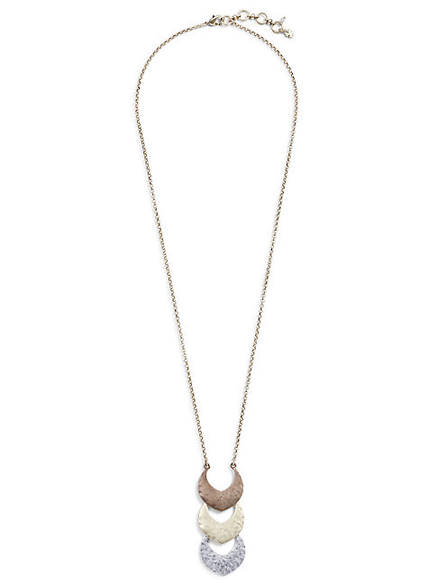 TRI TONE PENDANT NECKLACE,