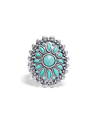 LUCKY TRIBAL TURQUOISE RING