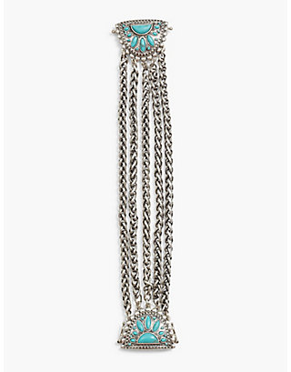 LUCKY TURQUOISE LINK BRACELET