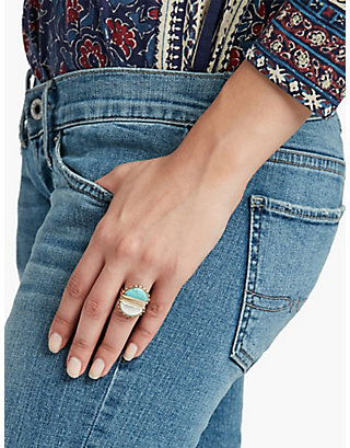 LUCKY TURQUOISE STACK RING