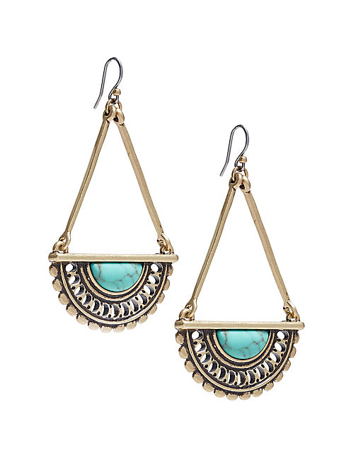 TURQUOISE OPEN WORK DROPS,