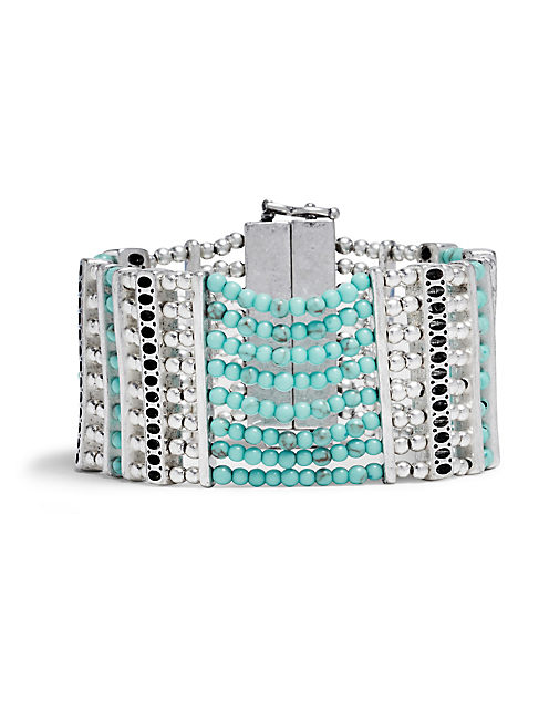 TURQUOISE LAYER BRACELET, SILVER