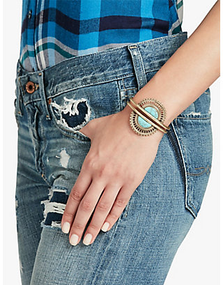 LUCKY TURQUOISE DOUBLE CUFF