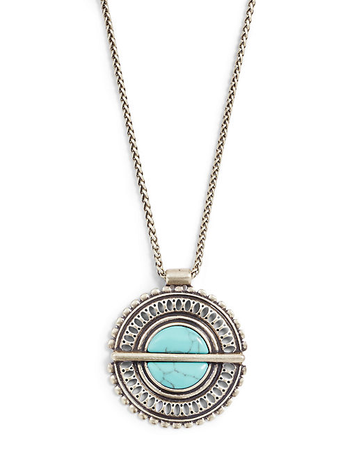 GOLD TURQUOISE NECKLACE,