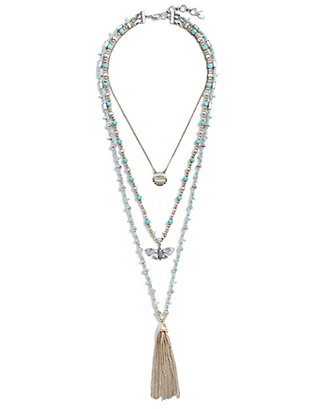 LUCKY BUTTERFLY LAYER NECKLACE