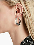 OPEN WORK HOOP EARRINGS,