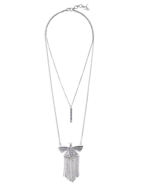 PAVE BUTTERFLY NECKLACE,