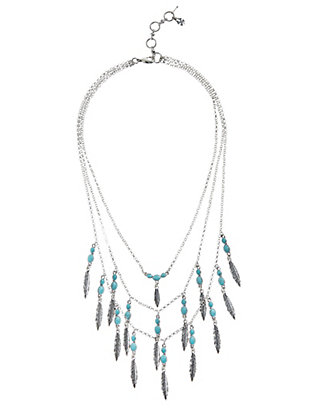LUCKY FEATHER LAYERED NECKLACE