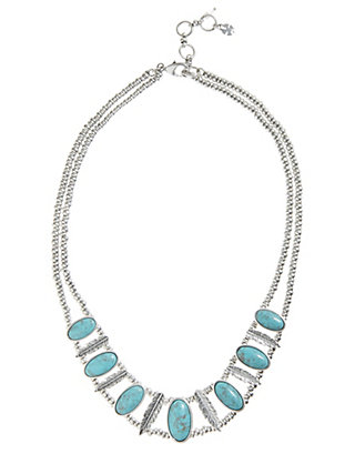 LUCKY TURQUOISE COLLAR NECKLACE