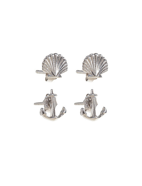 DELICATE SHELL STUD SET,