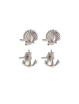 DELICATE SHELL STUD SET
