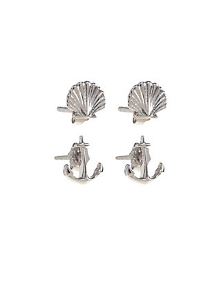 LUCKY DELICATE SHELL STUD SET