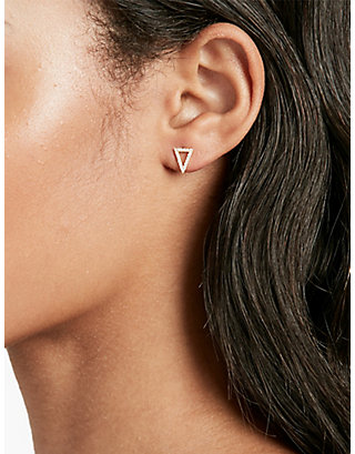 LUCKY PAVE TRIANGLE STUD SET