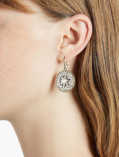 LUCKY FLORAL DROP EARRING