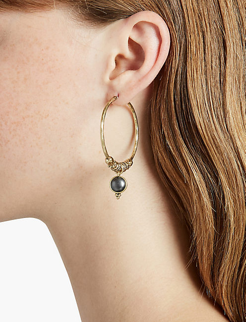 LUCKY FLORAL HOOP EARRING