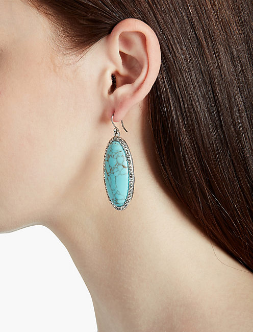 Lucky Turquoise Stone Earring