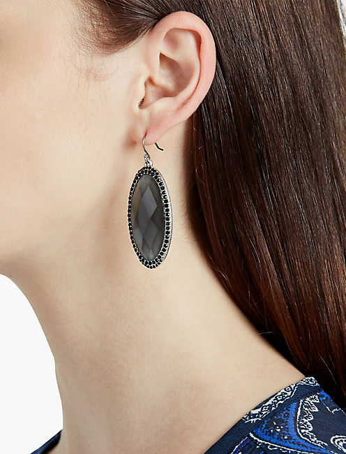 Lucky Black Stone Earring