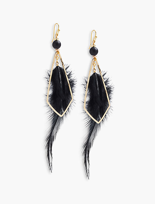 FEATHER EARRING,