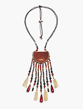 RED STONE STATEMENT NECK