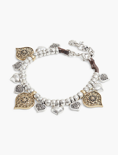 FLOWER LEATHER BRACELET,