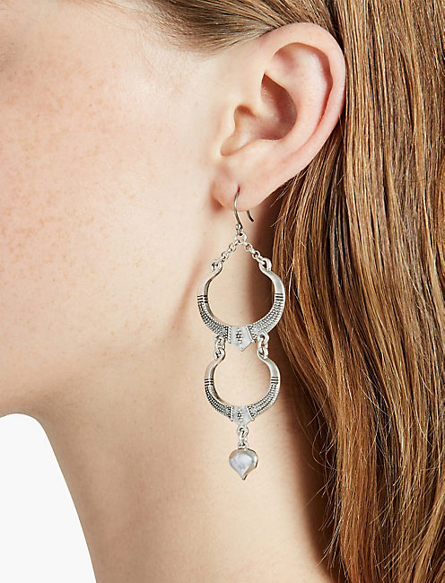 SILVER LONG EARRING,