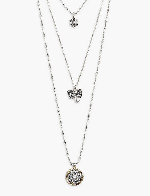 LUCKY LAYER ELEPHANT NECKLACE,