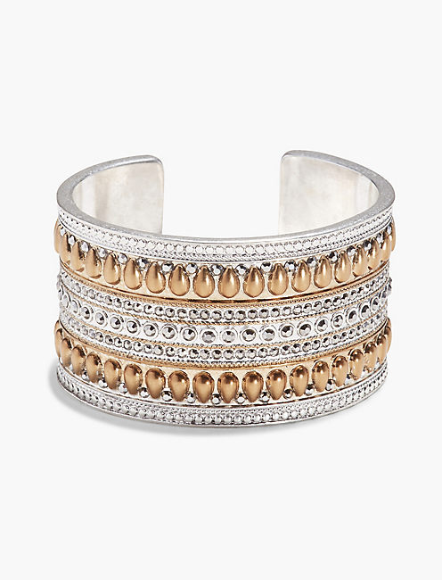 TRIBAL PAVE CUFF,