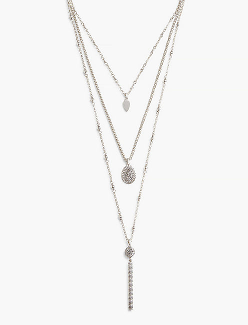 TEARDROP LUCKY LAYER NECKLACE,