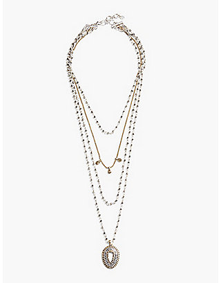 LUCKY TEARDROP STATEMENT LUCKY LAYER NECK