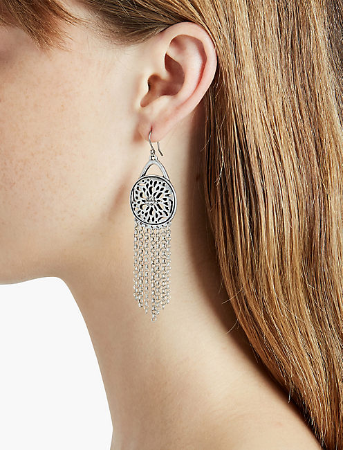 Lucky Sugar Plum Fringe Earring