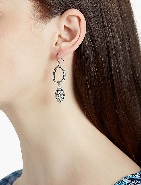 LUCKY BONE PAVE DROP EAR