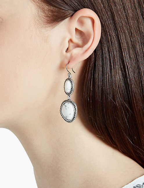 PEBBLE DOUBLE DROP EARRING,