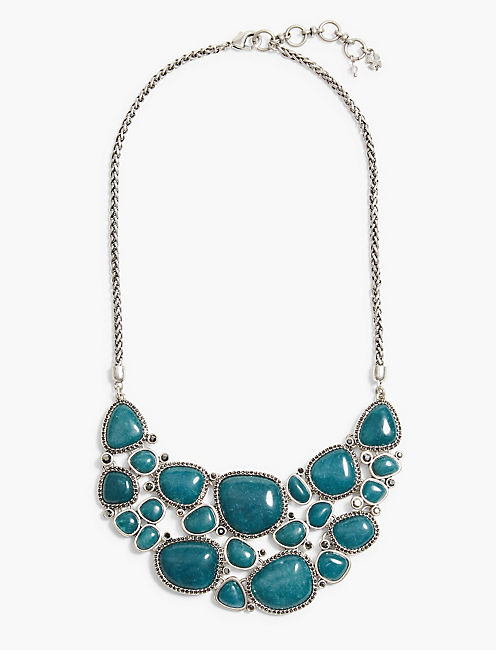 STONE STATEMENT NECKLACE,
