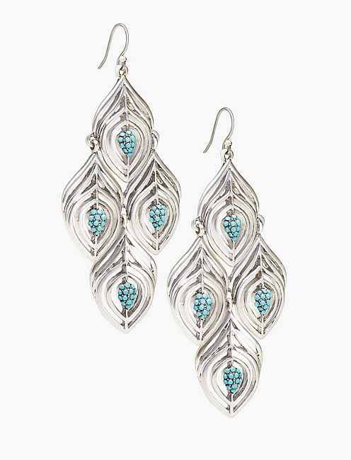 FEATHER CHANDELIER EARRING,