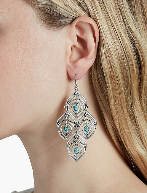 LUCKY FEATHER CHANDELIER EARRING