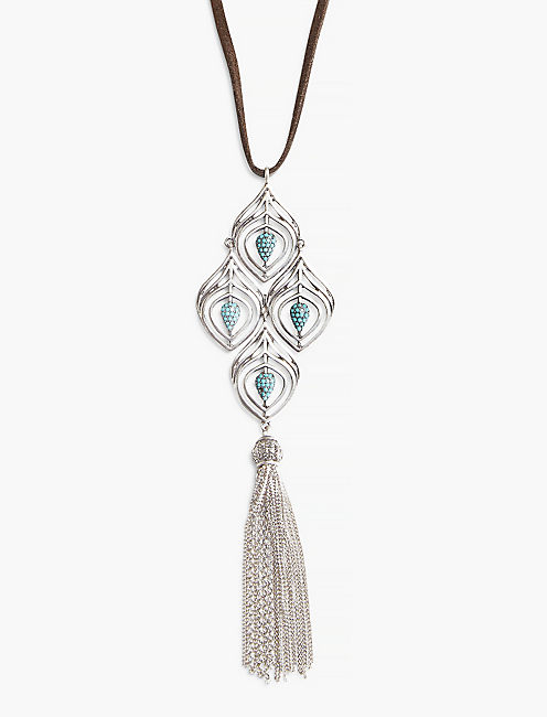 FEATHER TASSEL NECKLACE,