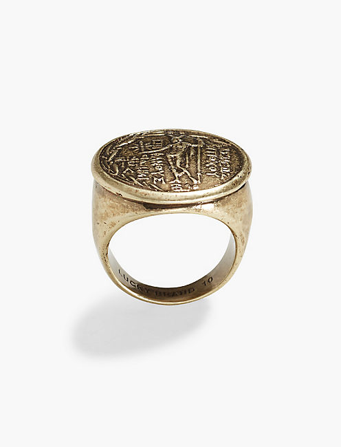 LUCKY ST CHRISTOPHER RING
