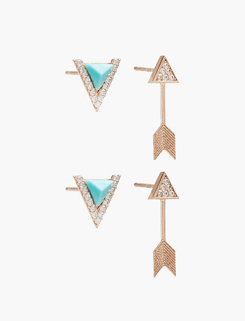 DELICATE ARROW STUD SET,