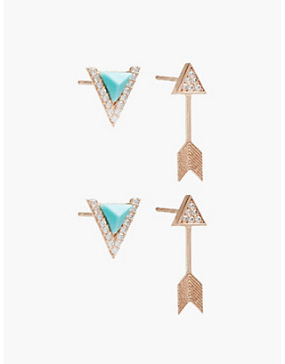 LUCKY DELICATE ARROW STUD SET