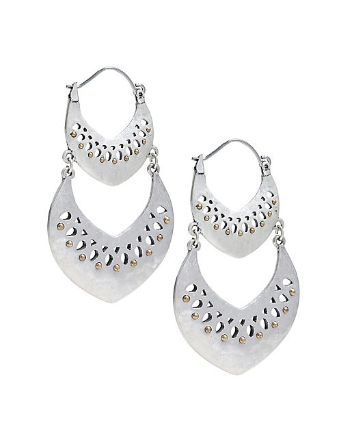 DOUBLE OPEN WORK EARRING,