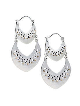 DOUBLE OPEN WORK EARRING