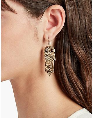 LUCKY GOLD OWL EARRINGS